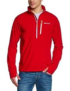 Marmot Herren Pullover Stretch Light 1/2 Zip, team red, S, 50780-6278-3