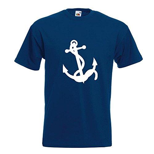 KIWISTAR - Anker Motiv3 T-Shirt in 15 verschiedenen Farben - Herren Funshirt bedruckt Design Sprüche Spruch Motive Oberteil Baumwolle Print Größe S M L XL XXL Navy