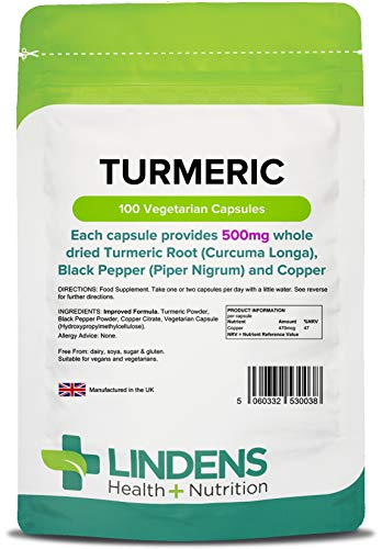 Lindens - Pack 100 - Curcuma (Whole Caps Root) 500mg