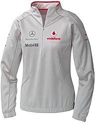 Sudadera fórmula 1McLaren Mercedes F1nuevo. Ladies, mujer, color plata, tamaño small