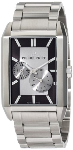 Pierre Petit Men's P-782C Serie Paris Automatic Rectangular Stainless-Steel Bracelet Watch