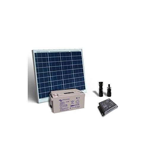 """Kit Solar Pro 50W 12V Plate + Controller de gastos 5A-PWM + Batería AGM 38Ah El """"Kit Solar Pro son ideales para aquellos que aman y quieren utilizar la energía solar. Ellos son el trampolín perfecto para el enorme potencial que la energía renovable ..."""