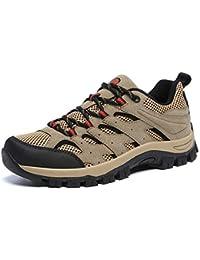 Zapatillas de Hombre Trekking Senderismo para Transpirable Camping Antideslizantes Zapatos de Deporte Caminar Trabajo Trail Running Sneaker Verde Negro Gris Caqui EU39-46