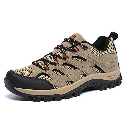 Scarpe da Trekking da Uomo Antiscivolo Traspiranti Calzature Corsa Arrampicata Escursionismo Passeggio Lavoro Sportive All'aperto Sneakers Cachie EU 42