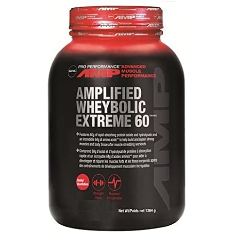 GNC Pro PerformanceR AMP Amplified Wheybolic Extreme 60 - Cookies & Cream 3 Pounds by GNC Pro Performance