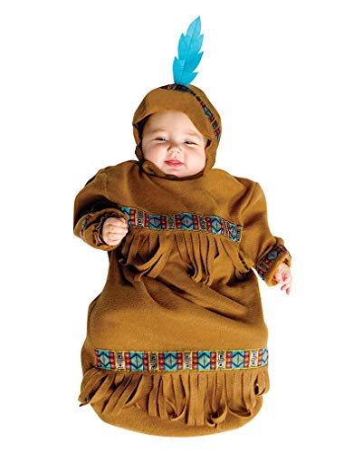 West Wild Indianer Kostüm - Horror-Shop Baby-Sack Indianer Kostüm für Fasching & die Wild West Mottoparty