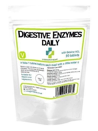 Lindens - Enzymes digestives au quotidien en tablettes (Pack de 90)