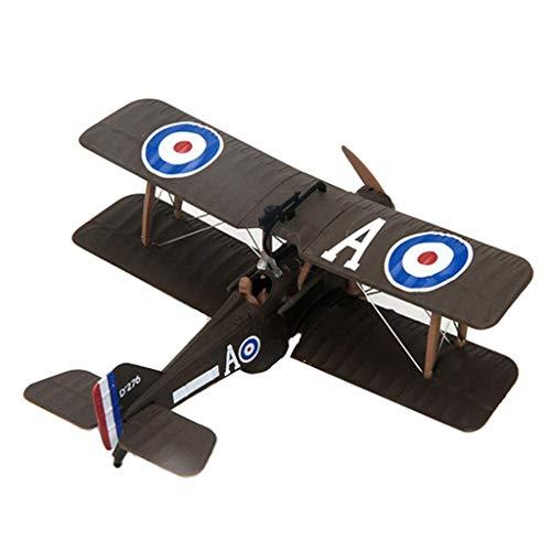 P Prettyia Modèle Avion Militaire Vintage Biplan WWI Se 5a Jouet Collection Ornement Maison Bureau - Échelle 1: 72
