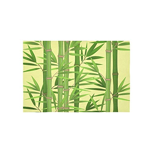 BAOQIN Tapisserie Stalks of Bamboo with Green Leaves Flat Theme In R Tapestries Wall Hanging Flower Psychedelic Tapestry Wall Hanging Indian Dorm Decor for Living Room Bedroom 80 X 60 Inch