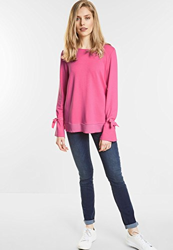 Street One Damen Longsleeve IM Layering-Look flamingo pink (pink)