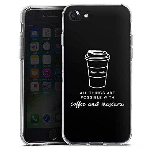 Apple iPhone X Silikon Hülle Case Schutzhülle Mascara Kaffee Spruch Silikon Case transparent