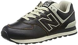 New Balance Herren 574v2 Sneaker, Schwarz (Black Black), 44.5 EU (10 UK)