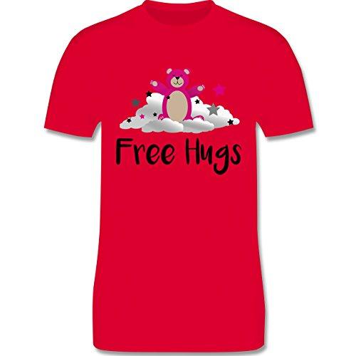 Comic Shirts - Free hugs - Herren Premium T-Shirt Rot