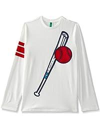 United Colors of Benetton Boys' Regular Fit Plain T-Shirt