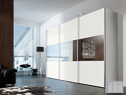 Schwebetürenschrank Schlafzimmerschrank Schrank Kleiderschrank 'Aurora II' (Breite: 300 cm)