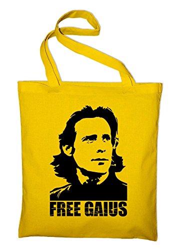 Free Gaius BSG Jutebeutel, Beutel, Stoffbeutel, Baumwolltasche, red Gelb