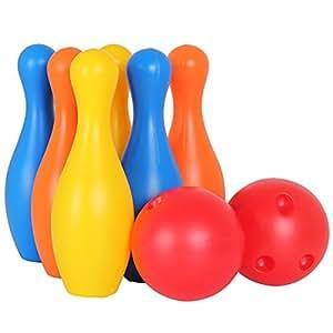 gro es kegelspiel bowling kugel spielzeug spiele draussen gartenspielzeug f r kinder ab 3 4 5. Black Bedroom Furniture Sets. Home Design Ideas