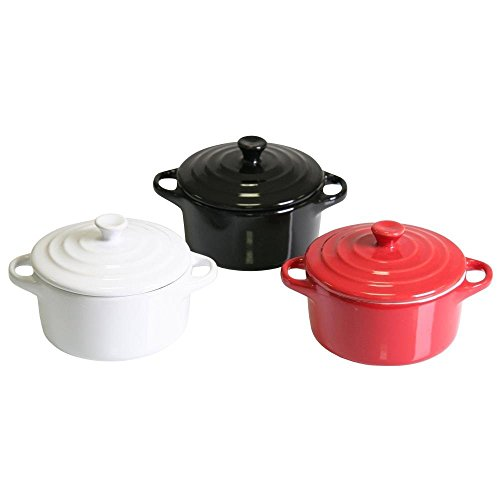 Mini Kasserolle Keramik Ø 10 cm Deckel