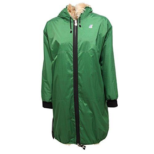 4377R giubbotto donna K-WAY REMIX CLAUDETTE PARKA verde jacket woman [8/S]