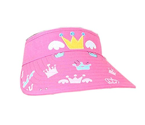 Children Sun Protection Hat Mini Cute Crown Cap Without Top 2-4 Years(Pink) (Hüte Crown Cap)