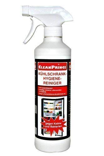 CleanPrince Kühlschrank-Hygiene-Reiniger 500 ml Küche Bakterien Desinfektion Keime Kühlschrankreiniger Kühlhaus Kühltheke Kühlung Gefrierschrank Gefriergerät Gefriertruhe desinfizieren lebensmittelsicher reinigen