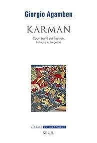 Karman par Giorgio Agamben