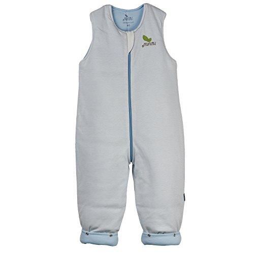 Minou Walker Schlafsack mit Beinen Gr. 80 Blau Streifen 141280