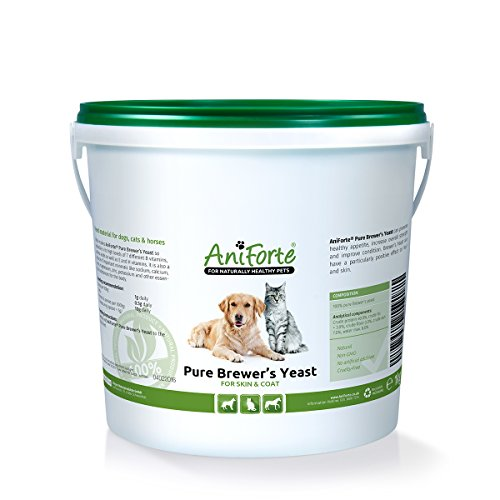 AniForte Pure Brewers Yeast 1000 g for skin and coat- natural product for dogs, cats and horses
