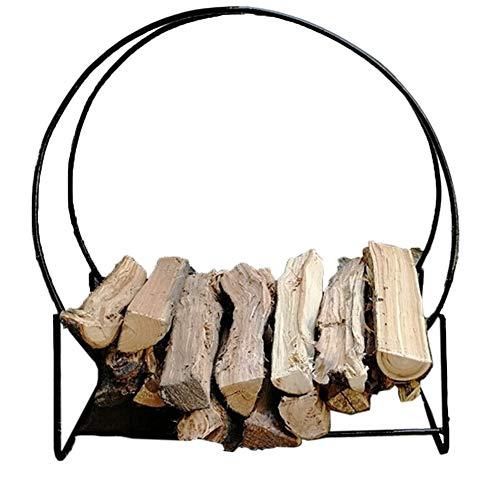 Culle portalegna Turno Stacking Legna da ardere rack di stoccaggio Interni Esterni Balck camino legna staffe 100 × 26 × 109