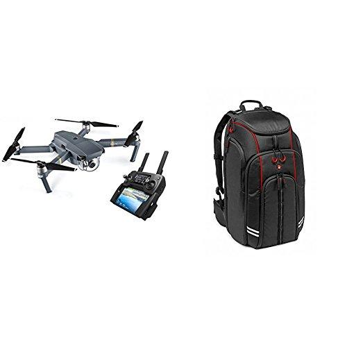 DJI Mavic Pro - Dron cuadricóptero con control remoto, color negro (DJ0001) + Manfrotto MFMBBP-D1 - Mochila para drones DJI