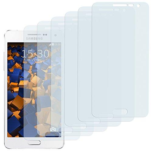 mumbi Schutzfolie kompatibel mit Samsung Galaxy A3 2015 Folie klar, Bildschirmschutzfolie (6x)