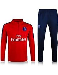 MYZUK-JS8W Paris Saint Germain 2016-2017 Survêtement de football en jersey bas Bleu et t-shirt Rouge