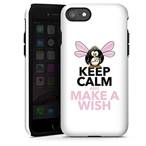 Apple iPhone X Silikon Hülle Case Schutzhülle Keep Calm Sprüche Wunsch Tough Case glänzend