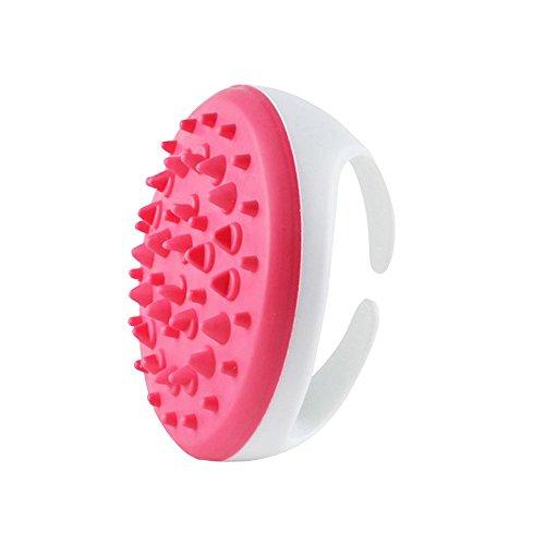 Naisicatar spazzola massaggiante anticellulite, kit per massaggio del corpo, per eliminare i grassi e ridurre il peso, 1 pezzo, colore rosa