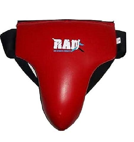 Rad MMA Coquille de protection épi (maritime) Tasse de boxe Abdo Protector Suspensoir Arts martiaux de boxe Muay Thai épi (maritime) Guard, Red