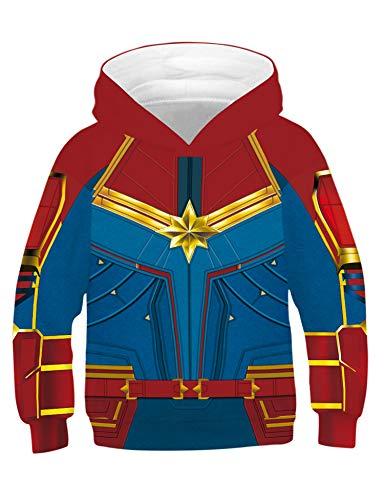 Kostüm Wonder Familie Woman - PIZOFF Jungen Mädchen Hoodie 3D Print Kapuzenpullover Sweatshirts Mit Kapuze Pullover Superhero Cosplay Kostüm Wonder Woman