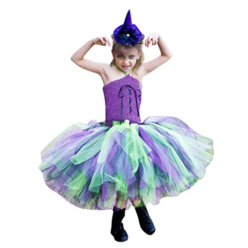 Weibliche Kostüm Of Ages Rock - Cuteelf Kinder Tutu Rock, Zweiteilige Party Dance Ballett Kleinkind Baby Regenbogen Kostüm Rock + Stirnband Set Karneval Ostern
