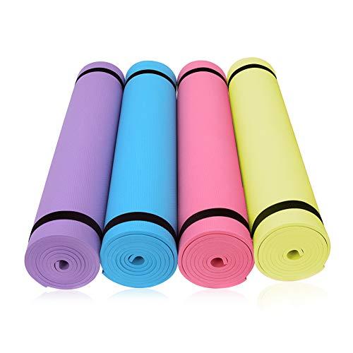 HONGFUTONG Esterilla de Yoga Antideslizante de Alta Densidad para Todo Uso para Yoga, Pilates, estiramientos, meditación, Ejercicios de Piso y Fitness