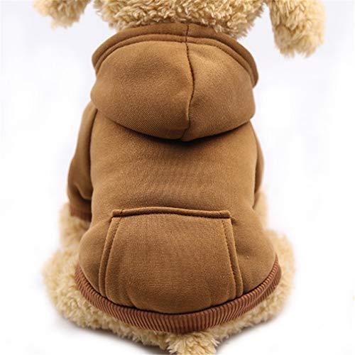 (EULSV Haustier Hundebekleidung Für Kleine Hunde Kleidung Warme Kleidung Für Hunde Mantel Welpen Outfit Haustier Kleidung Für Große Hundekapuzenpullis Coffee L)