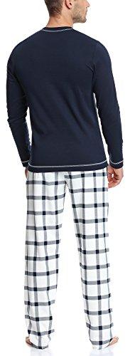 Italian Fashion IF Herren Schlafanzug Aron 0223 Navyblau