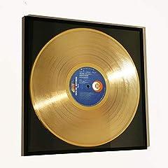 Idea Regalo - Disc'O'Clock Vasco Rossi - ALBACHIARA: Cornice con Disco d'oro - Idea Regalo per Veri Fan del Mitico BLASCO