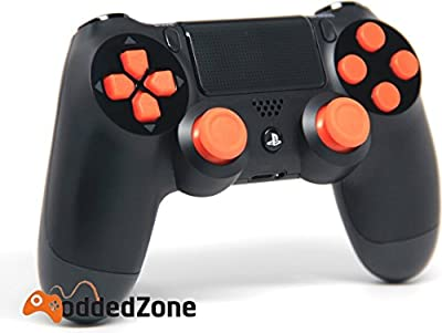 """Black/Orange"" PS4 Rapid Fire Modded Controller for COD Black Ops3, Infinity Warfare, AW, Destiny, Battlefield: Quick Scope, Drop Shot, Auto Run, Sniped Breath, Mimic, More"