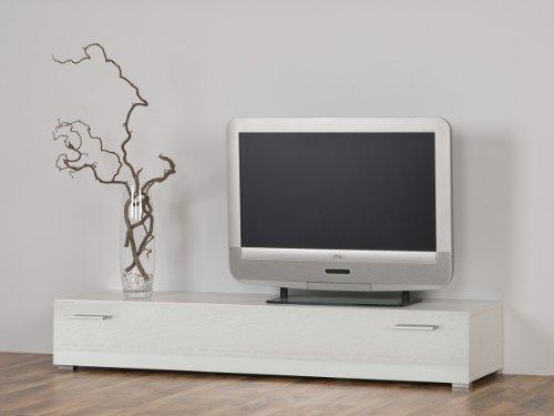 Esszimmer Nussbaum Bank (Dreams4Home Lowboard TV-Möbel TV-Board TV-Bank Unterschrank, Weiß glänzend - Breite 100 oder 150 cm, Größe/Breite:100 cm)