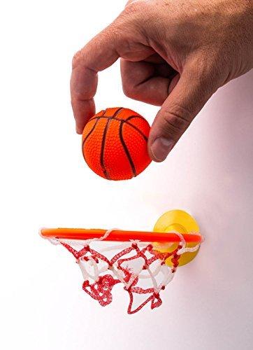 2GoodShop Badewannen-Mini-Basketballkorb von 2GoodShop, sicheres Badespielzeug, macht das Baden noch angenehmer, kommt mit 1 Reifen und 1 Ball, Artikel #204 1 Stück