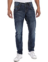 "Timezone Haroldtz Rough ""3911 Blue Waterline Was - Jeans - Slim - Homme"