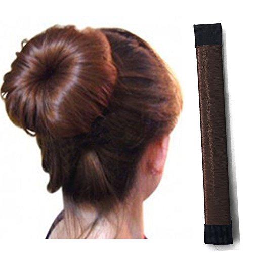 Rechoo Damen Frauen Twist Haar Donut Bun Maker Haarstyling Tool Braid Halterung DIY Dutt Zubehör Werkzeug Braun