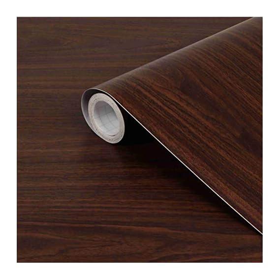 CVANU? Self Adhesive Wood Grain Wallpaper Waterproof Old Furniture Vinyl Stickers Wooden Door Wardrobe Desktop PVC Wall Papers Cv226 12''x120''inch