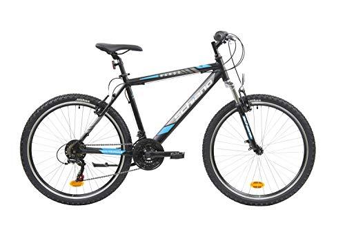 F.lli Schiano Range, Bici MTB Men's, Nero-Blu, 26''