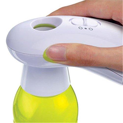 One Touch Dosenöffner-batterie (One Touch Flaschenöffner Flaschen Deckelöffner elektrisch mit 3 Adaptern)