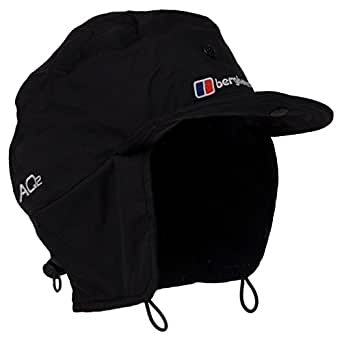 Berghaus Unisex AQ2 Mountain Waterproof Cap - Black, Large